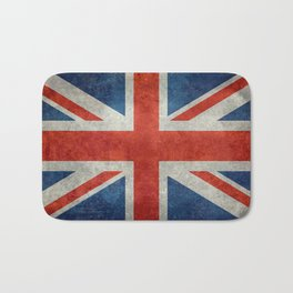 British flag of the UK, retro style Bath Mat