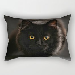 Look into the eyes of a black cat Rectangular Pillow