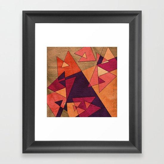 Earth Geometry 02 Framed Art Print