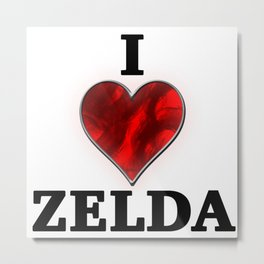 I Love Zelda Metal Print