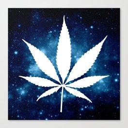 Weed : High Times Blue Galaxy Canvas Print