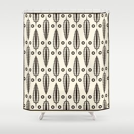 "Art Deco . ""Delicate leaves "". Shower Curtain"