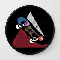skate Wall Clocks featuring Skate by Keagraphics