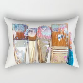 Five Paintbrushes Minimalist Photography Rectangular Pillow