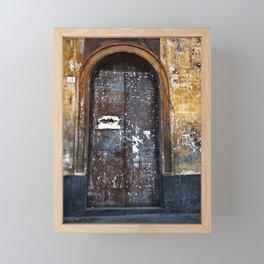 Old Sicilian door of Catania Framed Mini Art Print