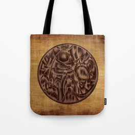 Abstract Wood Carving Pattern Tote Bag