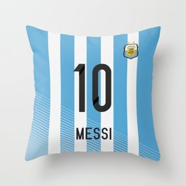 World Cup 2014 - Argentina Messi Shirt Style Throw Pillow