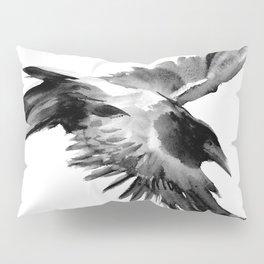 Flying Raven Pillow Sham