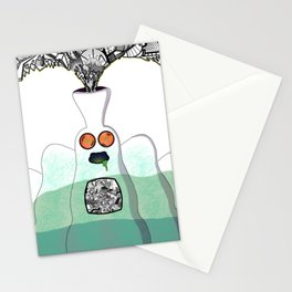 Another Planet Green Blue Stationery Cards