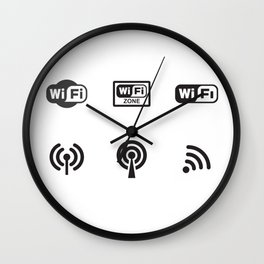 Wifi Zone Wall Clock