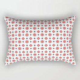 Pixel Christmas Pattern Rectangular Pillow