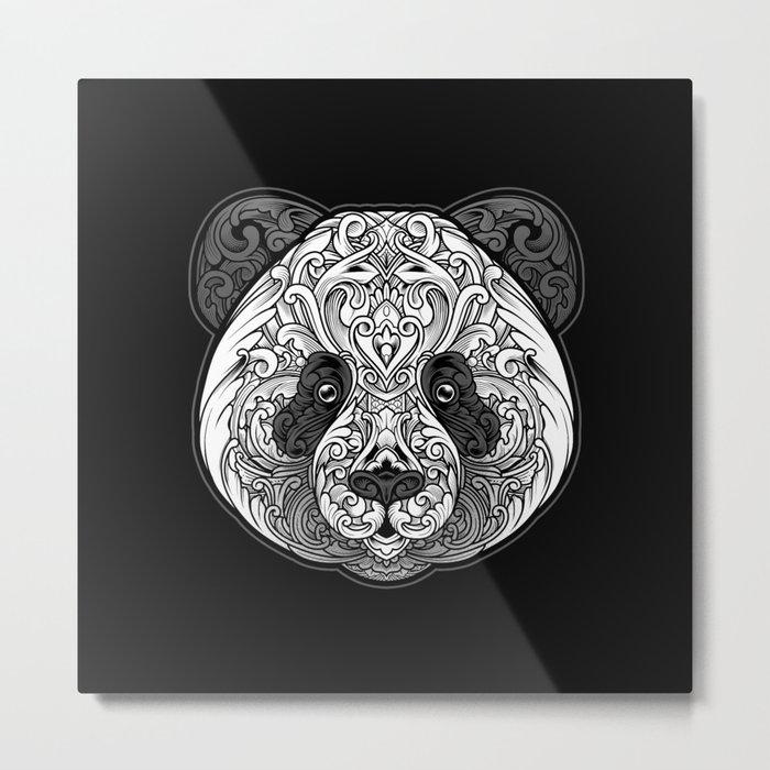 Zen Panda Metal Print
