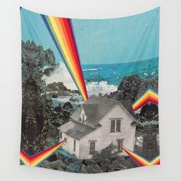 Rainbow House Wall Tapestry