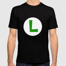 Nintendo Luigi MEDIUM Black Mens Fitted Tee