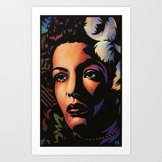 Billie Holiday Art Print