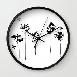 011/100: CUTLEAF EVENING PRIMROSE [100 Day Project 2020] Wall Clock