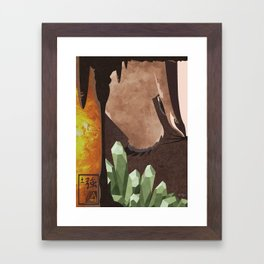 Original Bending Masters Series: Badgermoles Framed Art Print