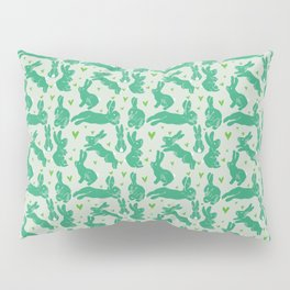 Bunny love - Basil edition Pillow Sham