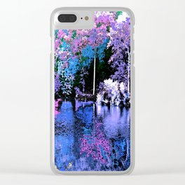 Spring Trees Beside the Lake Clear iPhone Case