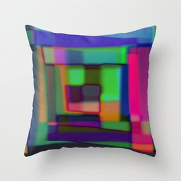 Colored blured background Throw Pillow
