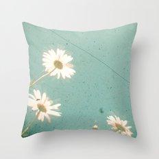 Three Daisies Throw Pillow