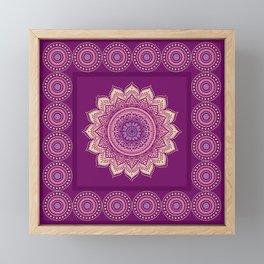Indian Mandala ornament Framed Mini Art Print
