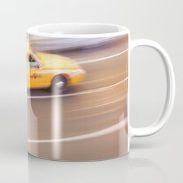 Yellow taxi cab in times square new york city new york usa Coffee Mug