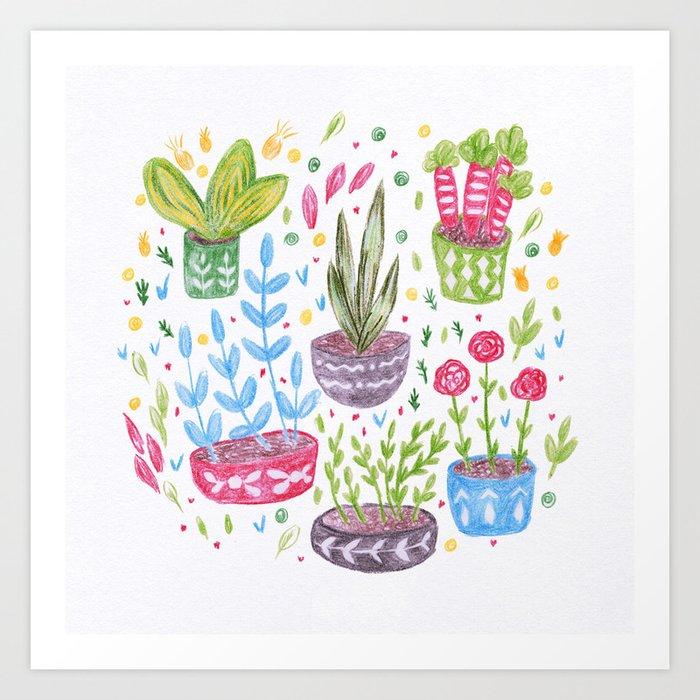 Flowers in the Pot Art Print