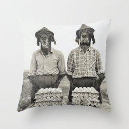 Dust Ball Throw Pillow