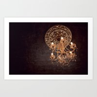 chandelier Art Prints featuring chandelier by shannonblue