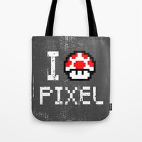 pixel Tote Bags featuring Pixel by eARTh