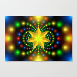 christmas star fractal symmetry Canvas Print
