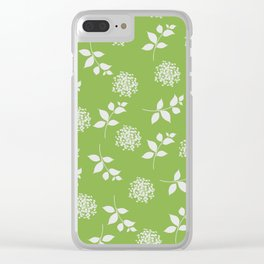 Greenery Summer Clear iPhone Case