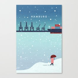 Hamburg winter Canvas Print