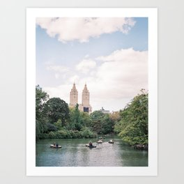 Rowing a boat in Central Park | New York City Travel | USA Wanderlust Photography Art Print