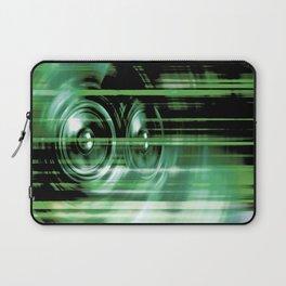 Green music speakers Laptop Sleeve