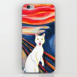 Cat surprise iPhone Skin