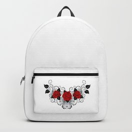 Symmetrical Tattoo of Red Roses Backpack