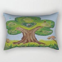 The Painted Tree Rectangular Pillow