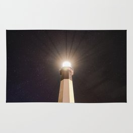 Tybee Lighthouse Under the Stars Rug