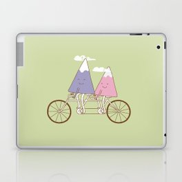 mountain biking Laptop & iPad Skin