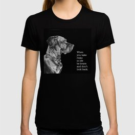 Silver Ridgeback, don't look back T-shirt
