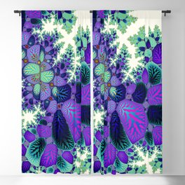 Leafy Nosegay Fractal Blackout Curtain
