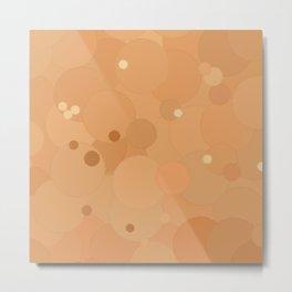 Peach Cobbler Bubble Dot Color Accent Metal Print