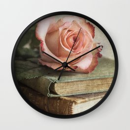 Smell of fresh rose Wall Clock