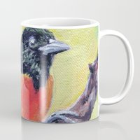 baltimore Mugs featuring Baltimore Oriole by Art Project