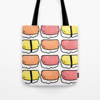 sushi Tote Bags featuring Sushi by ocamixn