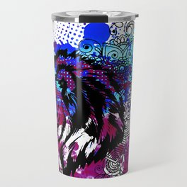 Purple Lion Spirit Travel Mug