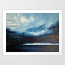Rain at Sea Art Print