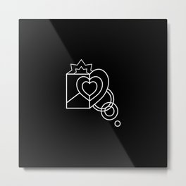 Heart shaped box vector design Metal Print